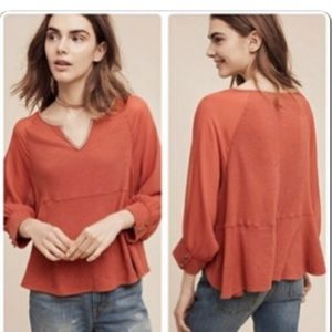 Anthropologie Akemi + Kin Fenn Rust Dolman sleeve